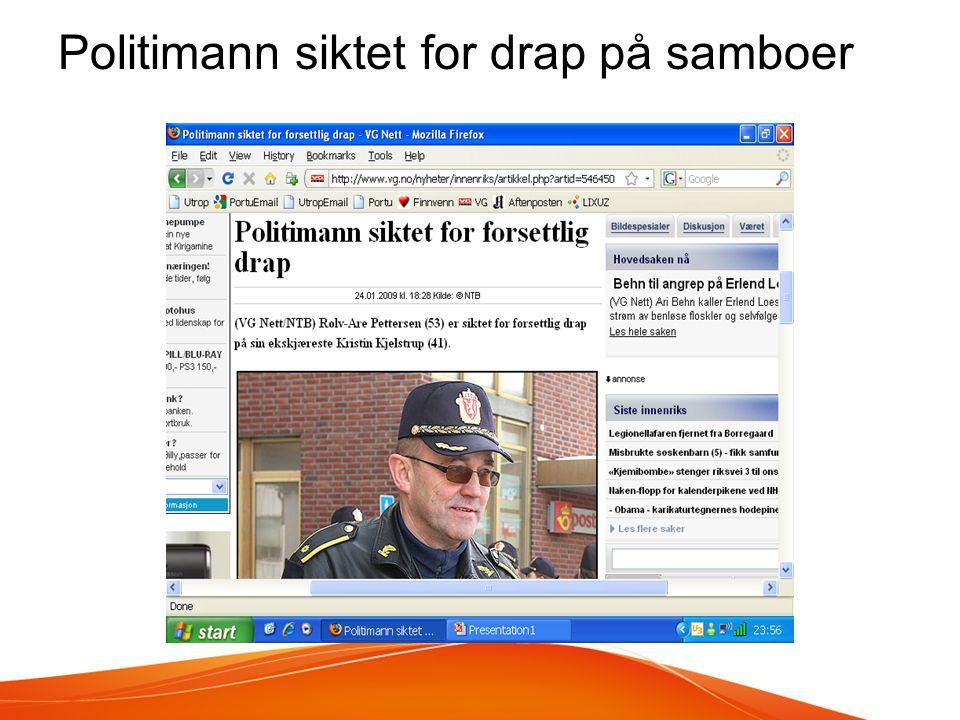 Politimann siktet for drap på samboer