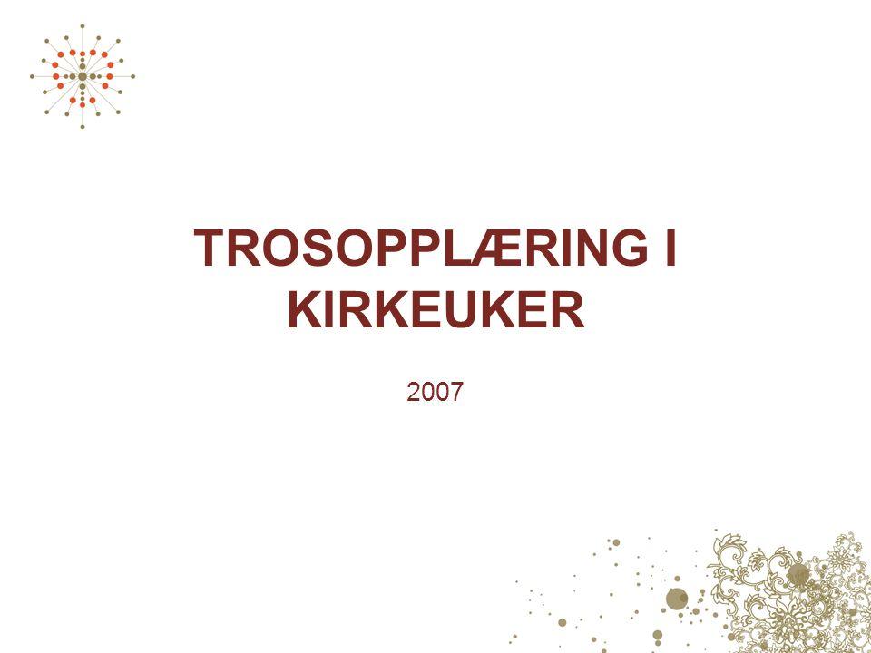 TROSOPPLÆRING I KIRKEUKER 2007