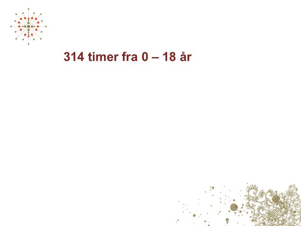 314 timer fra 0 – 18 år