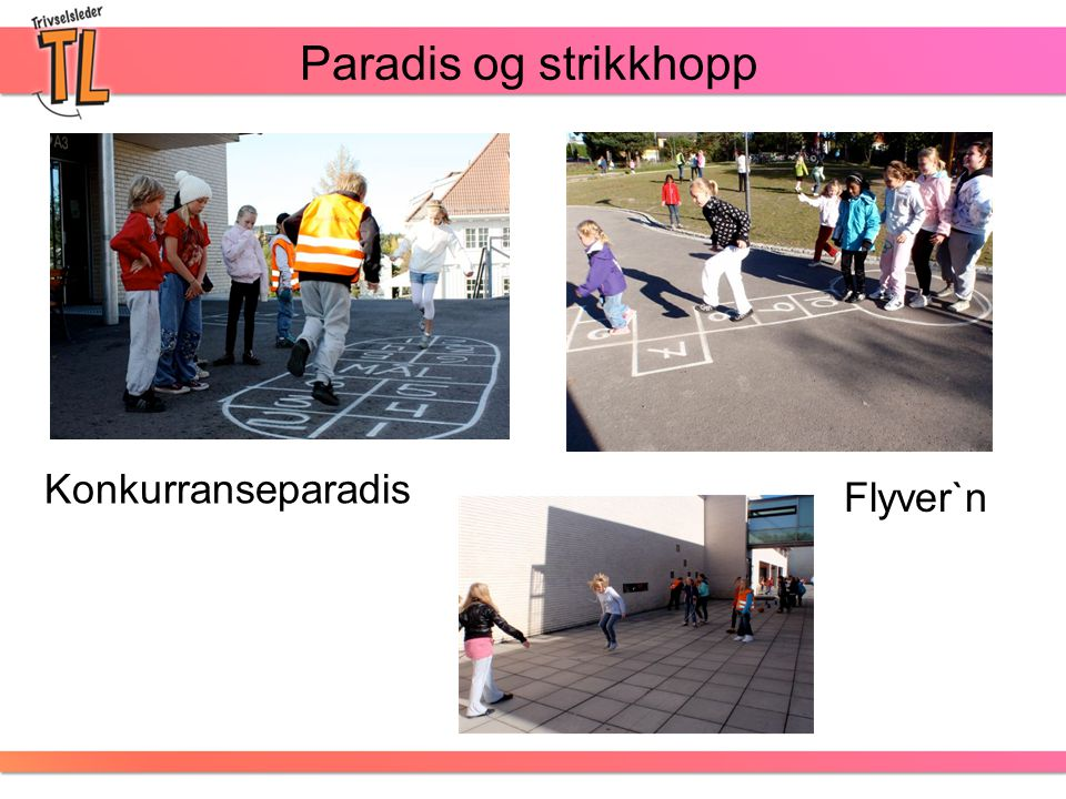 Paradis og strikkhopp Flyver`n Konkurranseparadis