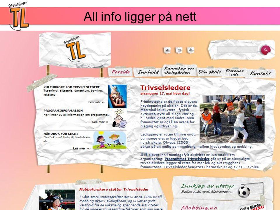 All info ligger på nett