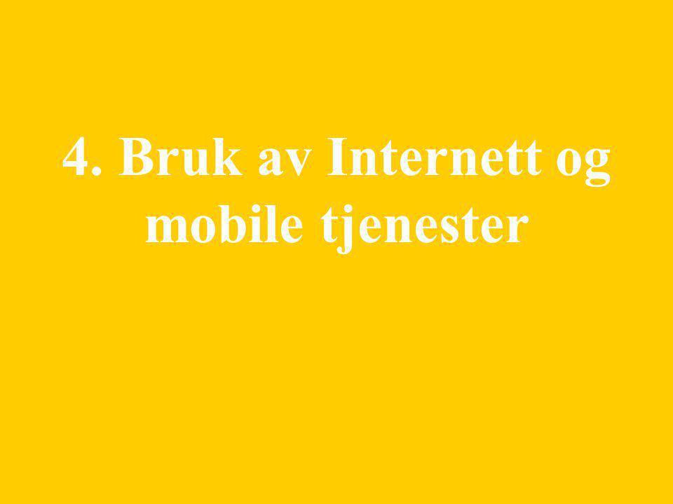 21 4. Bruk av Internett og mobile tjenester