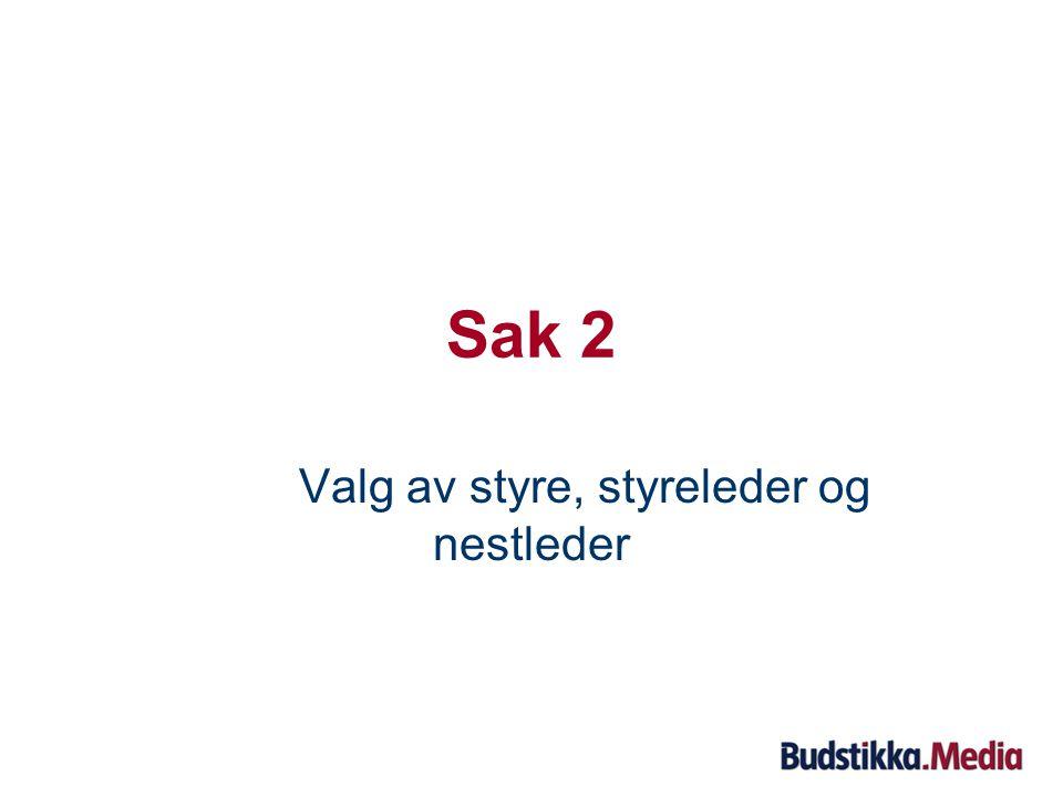 Sak 1: Forslag til vedtak Asker og Bærums Budstikke ASAs årsregnskap og årsberetning for regnskapsåret 2008 godkjennes.