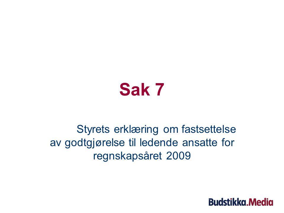 Sak 6: Opprettholde fullmakt til erverv av inntil 10 % av egne aksjer Styreleder Kaare Frydenberg redegjør for saken.