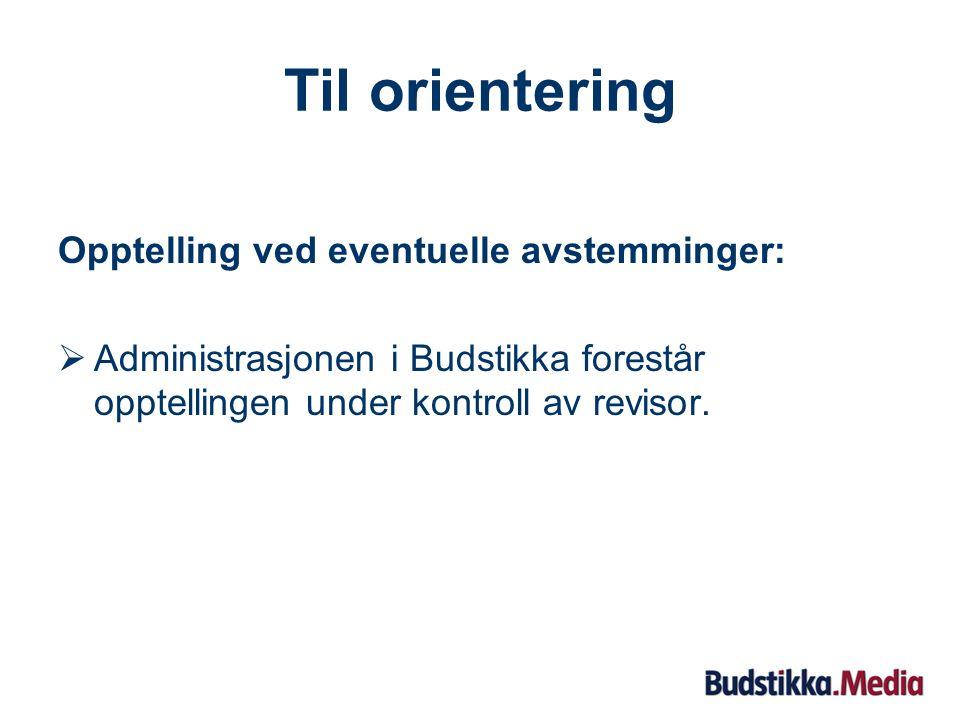 Sak 7: Styrets erklæring om fastsettelse av godtgjørelse til ledende ansatte Styreleder Kaare Frydenberg redegjør for saken.