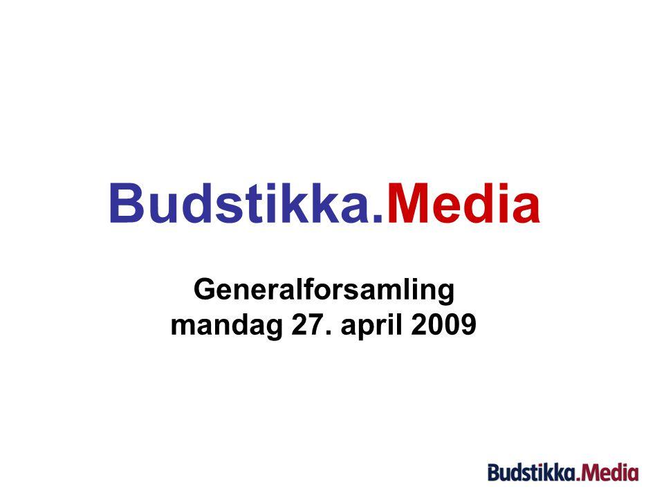 Budstikka.Media Generalforsamling mandag 27. april 2009