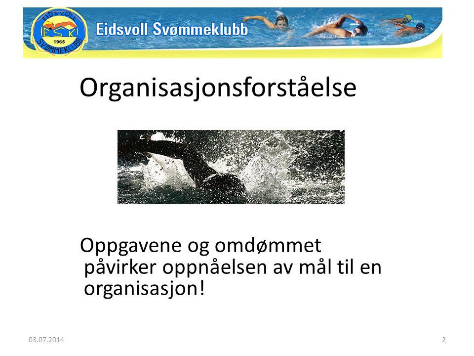 Oppgavene og omdømmet påvirker oppnåelsen av mål til en organisasjon! Organisasjonsforståelse 03.07.20142