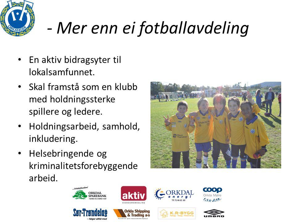 - Mer enn ei fotballavdeling • En aktiv bidragsyter til lokalsamfunnet.
