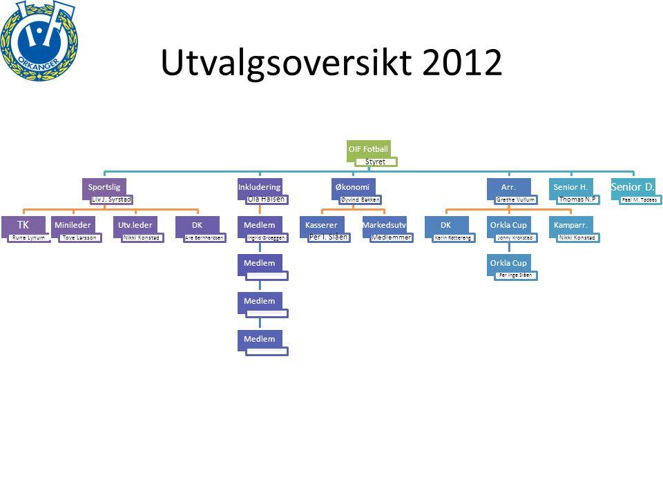 Utvalgsoversikt 2012 OIF Fotball Styret Sportslig Liv J.