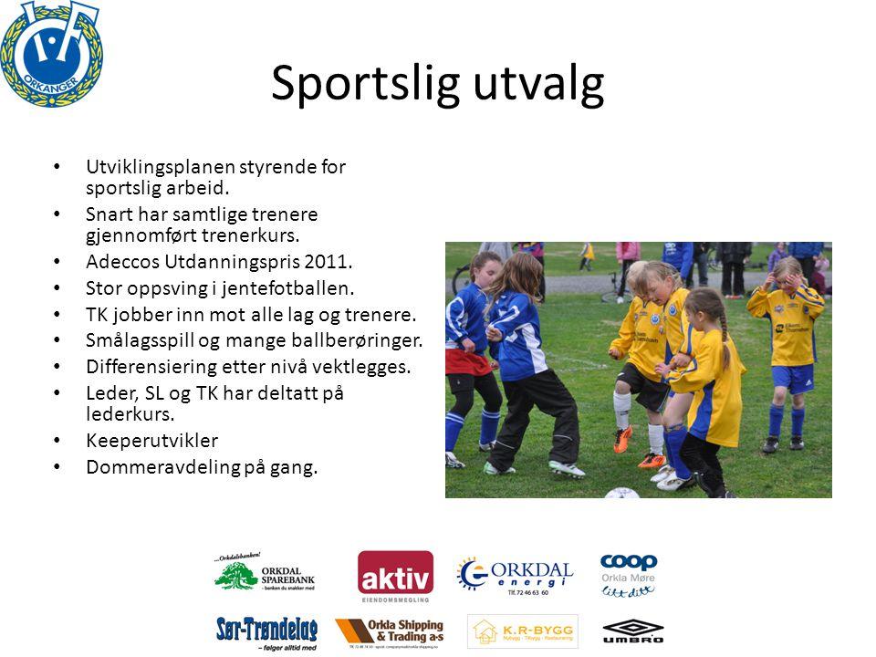 Sportslig utvalg • Utviklingsplanen styrende for sportslig arbeid.
