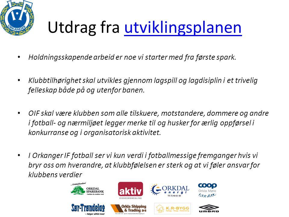 Økonomiutvalg • Største inntektskilder: – Samarbeidspartnere – Sponsorplakater – Orkla Cup – Treningsavgift • Inngått 3-årsavtaler i 2011.