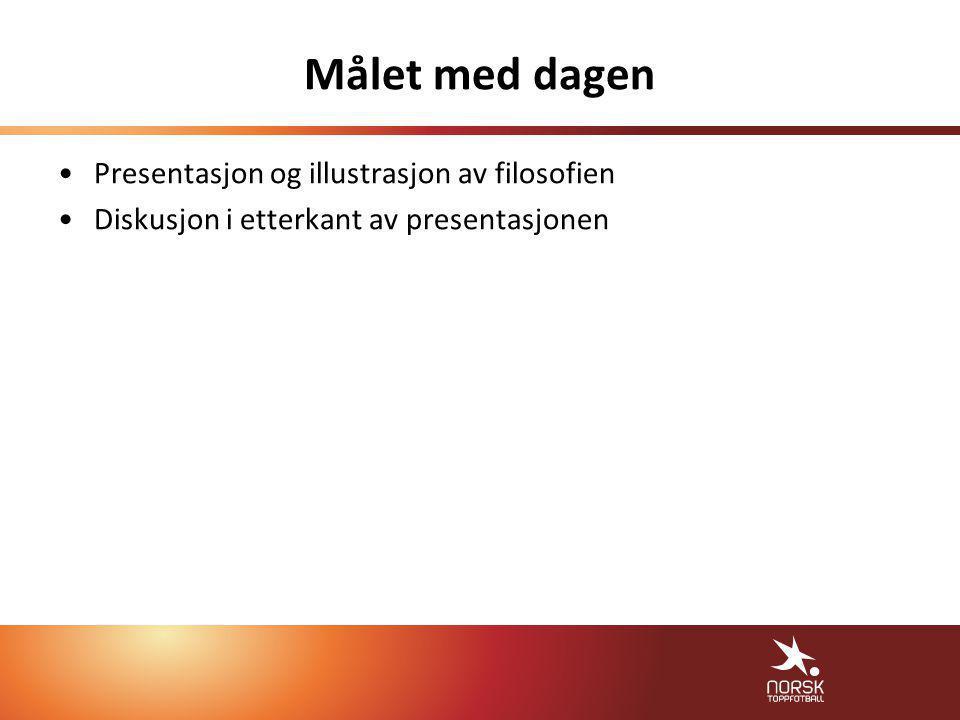 Målet med dagen •Presentasjon og illustrasjon av filosofien •Diskusjon i etterkant av presentasjonen