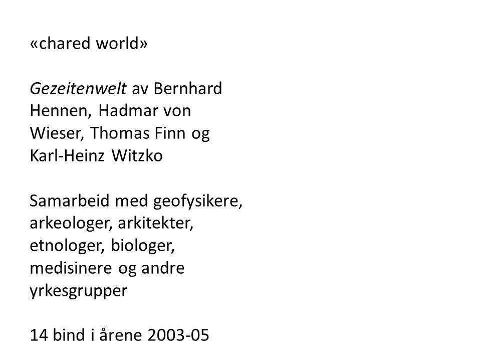 «chared world» Gezeitenwelt av Bernhard Hennen, Hadmar von Wieser, Thomas Finn og Karl-Heinz Witzko Samarbeid med geofysikere, arkeologer, arkitekter,