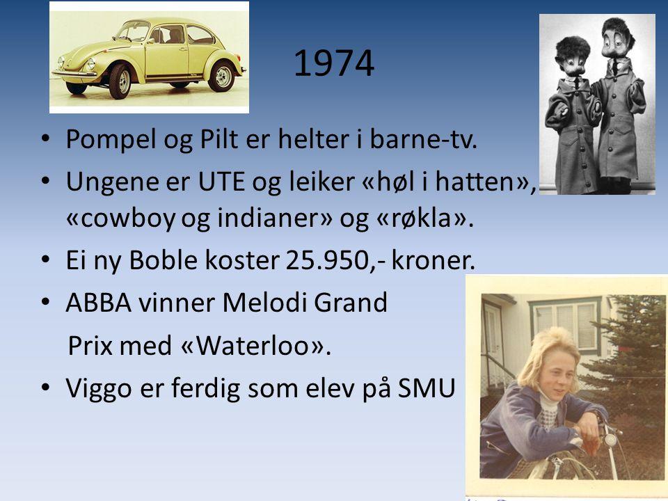 1975 • Flåklypa Grand Prix kommer på kino.• Både tobakk- og alkoholreklame blir forbudt i Norge.