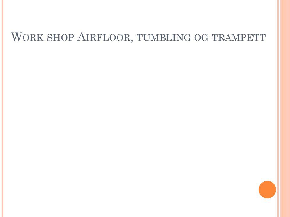 W ORK SHOP A IRFLOOR, TUMBLING OG TRAMPETT
