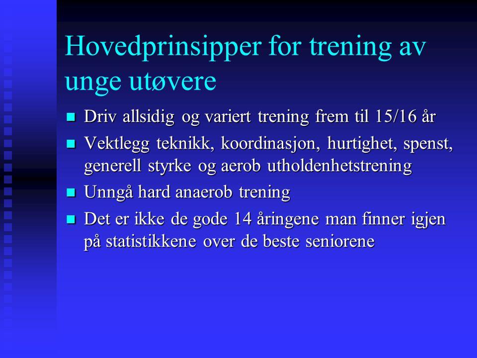 Leif Inge Tjelta: Mellom- og langdistansedistanse- trening for ungdom med tanke på å bli gode i voksen alder