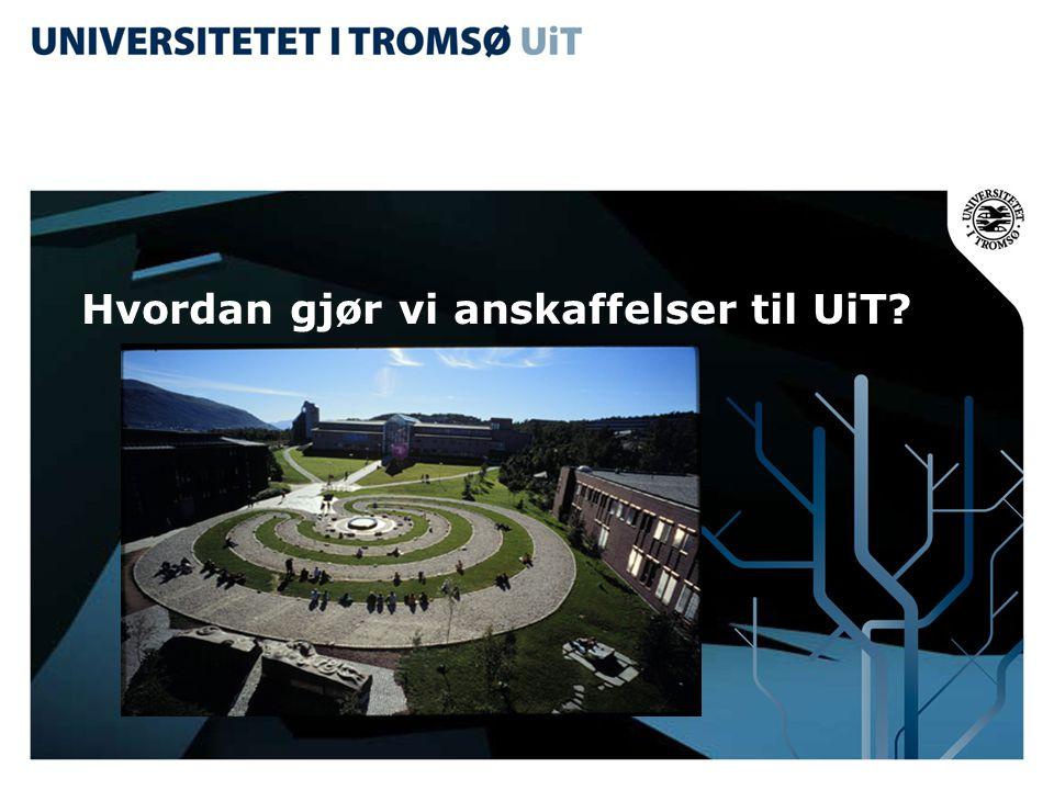 E-faktura •Leverandører av varer eller tjenester skal sende elektronisk faktura/kreditnota i EHF-format til UiT, uansett størrelse på leveransen.