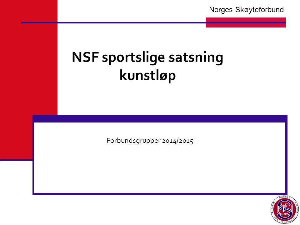 NSF sportslige satsning kunstløp Forbundsgrupper 2014/2015 Norges Skøyteforbund
