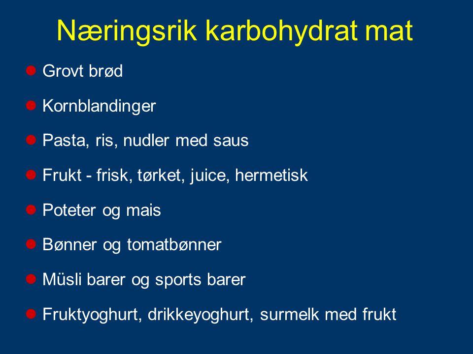 (Hultman & Bergstrøm, 1967) Karbohydratinntak rett etter trening gir rask og god restitusjon