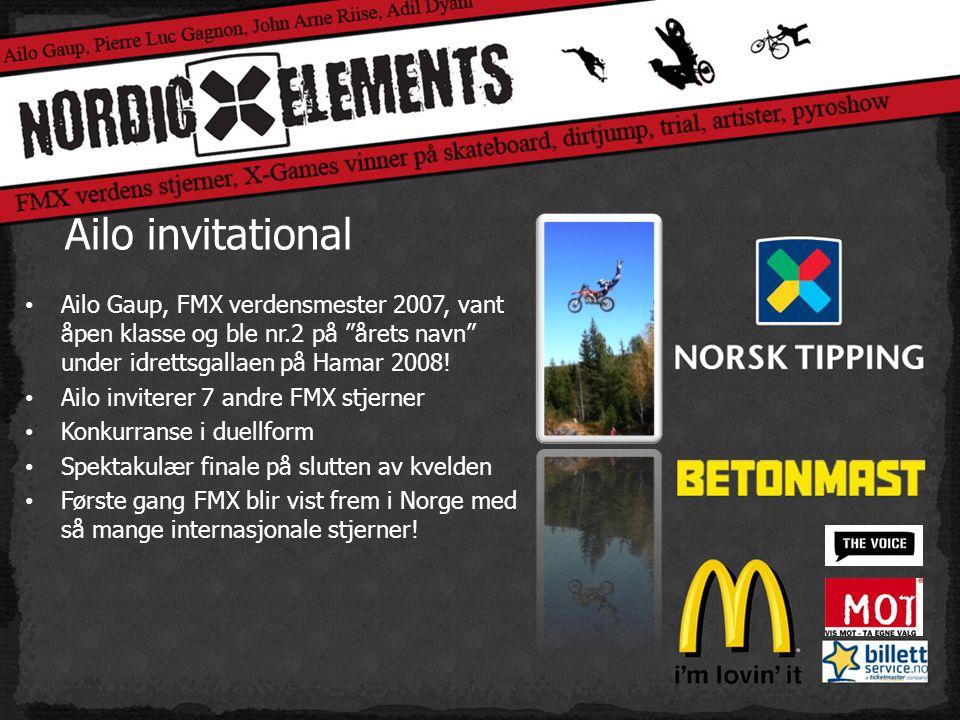 Ailo invitational • Ailo Gaup, FMX verdensmester 2007, vant åpen klasse og ble nr.2 på årets navn under idrettsgallaen på Hamar 2008.