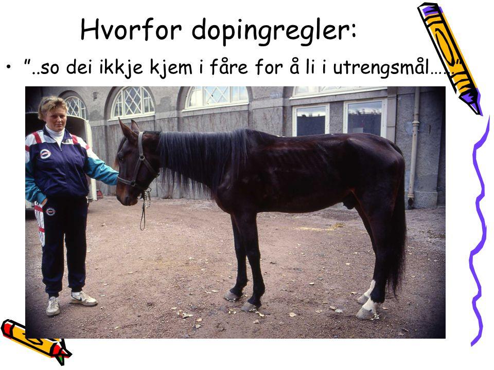 6.Bestemmelser om dopingprøvetaging av hest ved stevner 1.