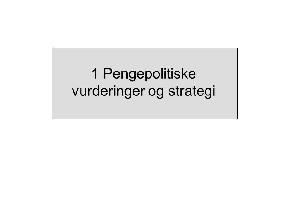 Kilde: Norges Bank PPR 1/07 IR 3/06 Figur 1 Anslag på produksjonsgapet i referansebanen i IR 3/06 og PPR 1/07.