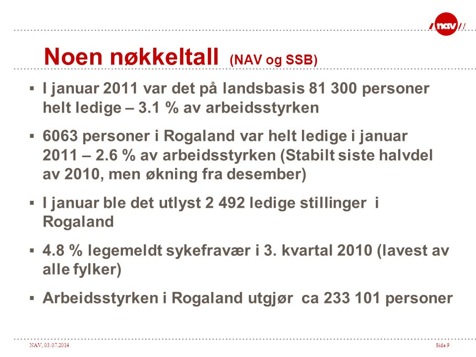 NAV, 03.07.2014Side 10 Forventningsindeks, samlet