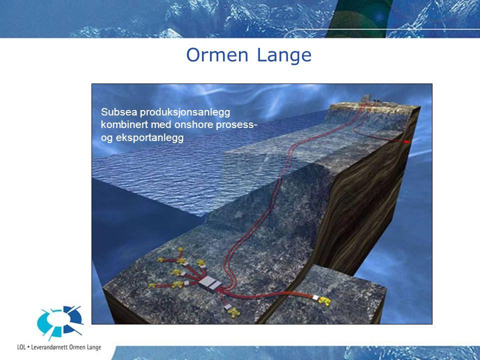 Nøkkeldata Ormen Lange •Reservoar ~ 400 mrd.