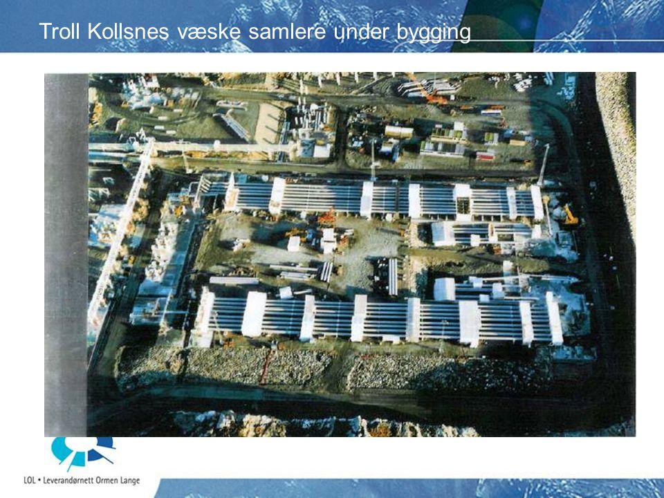 Troll Kollsnes væske samlere under bygging