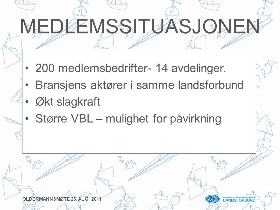 MEDLEMSSITUASJONEN •200 medlemsbedrifter- 14 avdelinger.