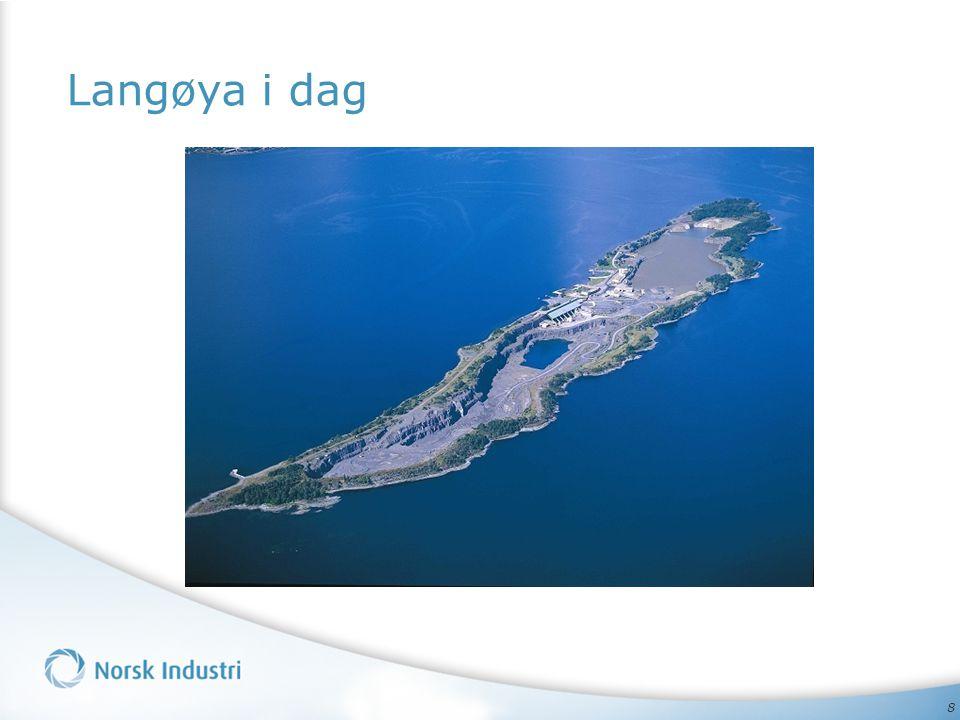 9 Nord rehabiliteres til tørt land Syd rehabiliteres til lagune Slik kan Langøya se ut ferdig rehabilitert i 2030