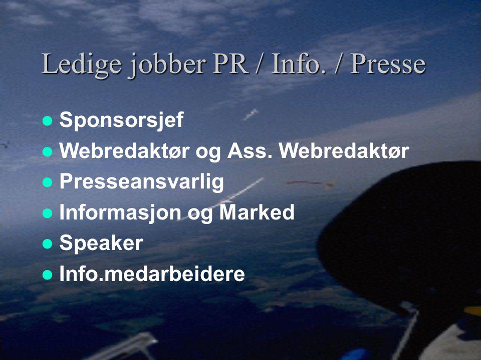 Vi trenger frivillige mannskaper  Norglide 2003 – 1 uke trening + 1 uke konkurranse – behov 30 personer  VM 2004 – 1 uke trening + 2 uker konkurrans