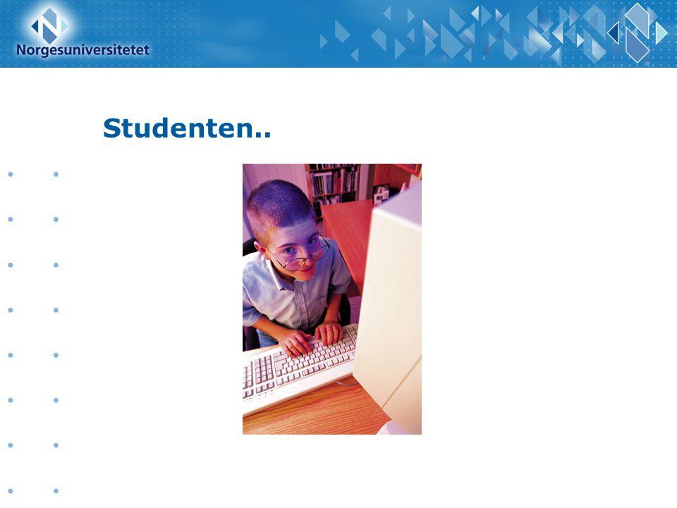 Studenten.... utvikling av DLR som del av læringsprosessen....