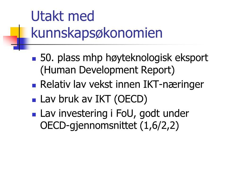 Utakt med kunnskapsøkonomien  50.