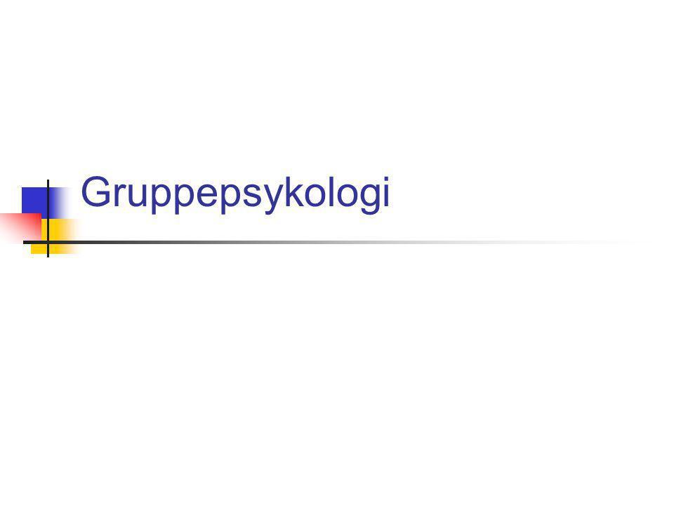 Gruppepsykologi