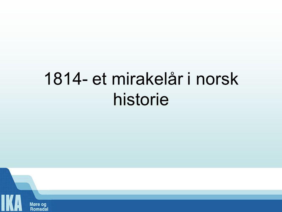Skår i gleden •Gikk fra å være en del av det eneveldige Danmark-Norge og inn i union med Sverige •7.