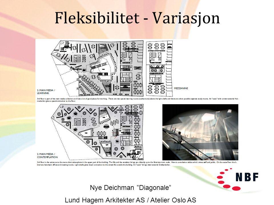 "Fleksibilitet - Variasjon Nye Deichman ""Diagonale"" Lund Hagem Arkitekter AS / Atelier Oslo AS"