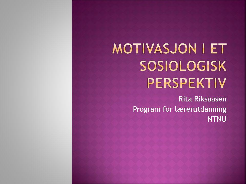 Rita Riksaasen Program for lærerutdanning NTNU