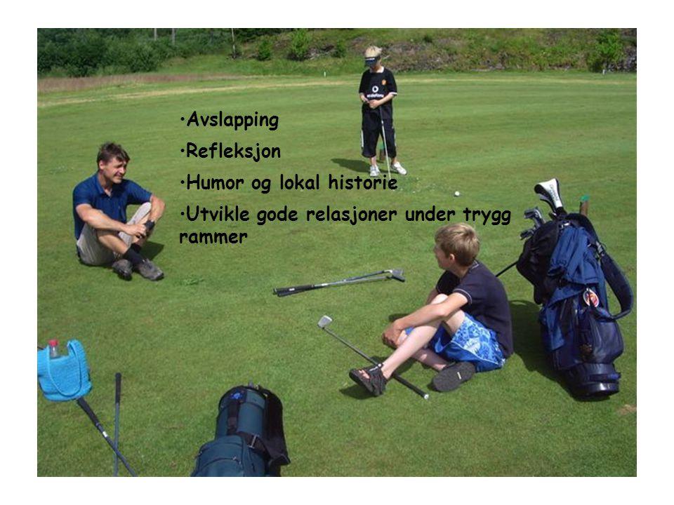 •Avslapping •Refleksjon •Humor og lokal historie •Utvikle gode relasjoner under trygg rammer