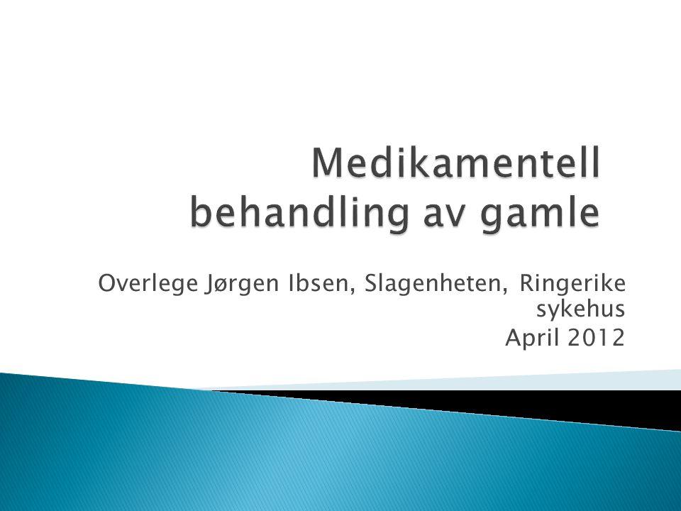 Overlege Jørgen Ibsen, Slagenheten, Ringerike sykehus April 2012