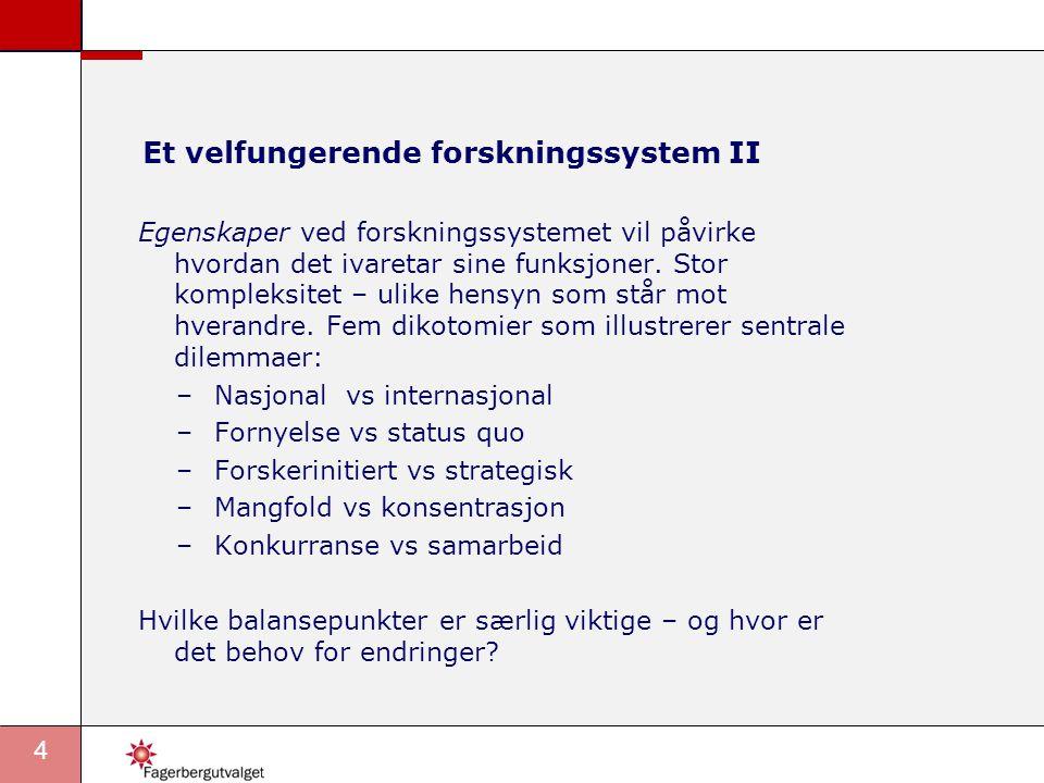 15 Mangfold vs konsentrasjon •Vurderinger: –På forskernivå: For lite konsentrasjon, jf fagevalueringene.