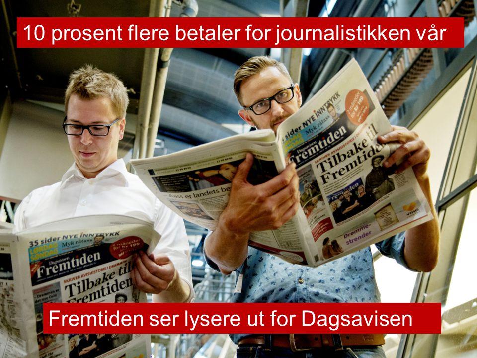 Fremtiden ser lysere ut for Dagsavisen 10 prosent flere betaler for journalistikken vår
