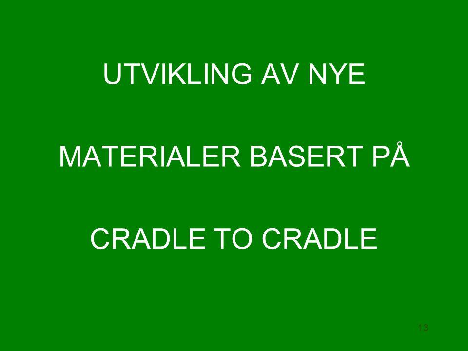 UTVIKLING AV NYE MATERIALER BASERT PÅ CRADLE TO CRADLE 13
