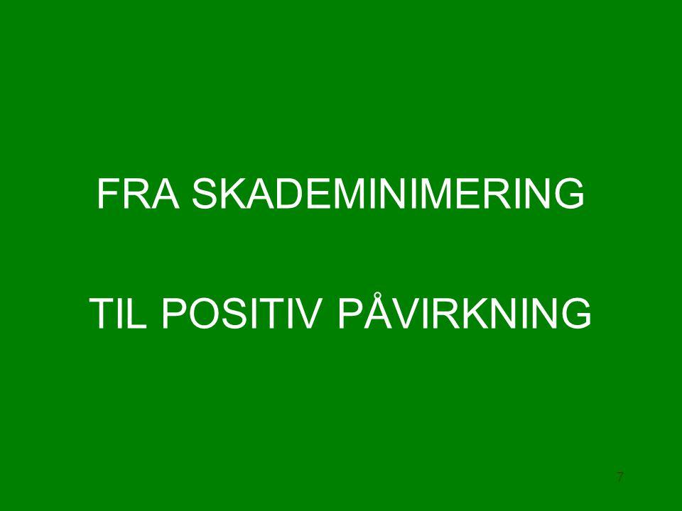 FRA SKADEMINIMERING TIL POSITIV PÅVIRKNING 7