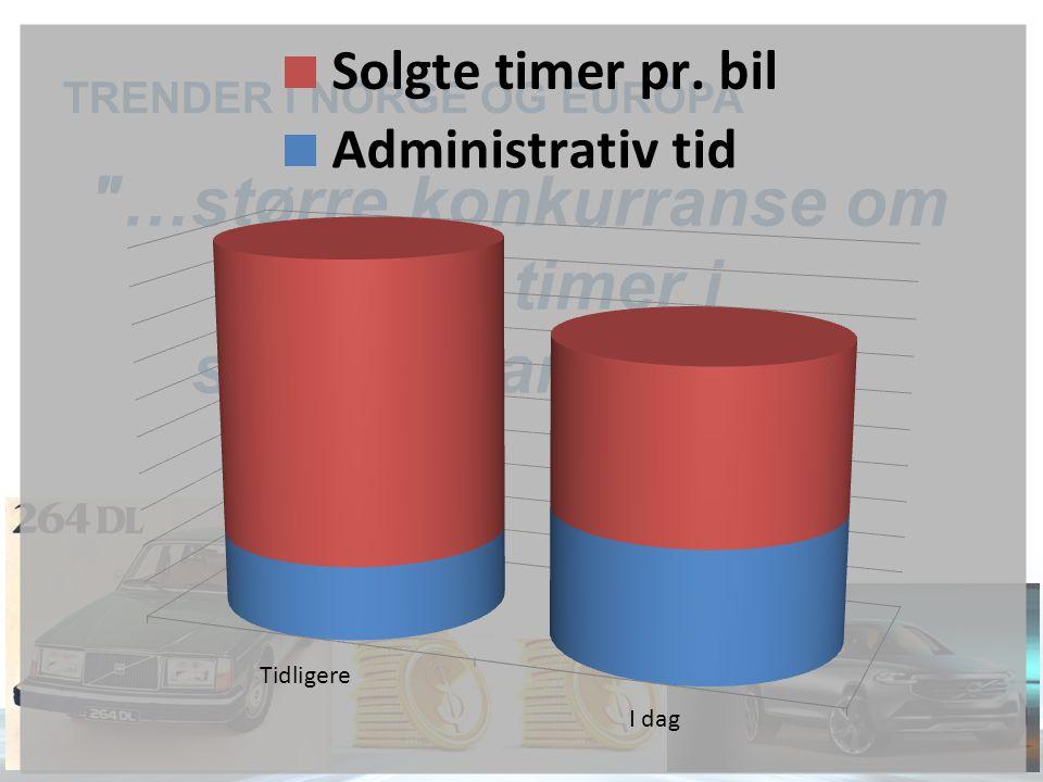 TRENDER I NORGE OG EUROPA …større konkurranse om færre timer i servicemarkedet…