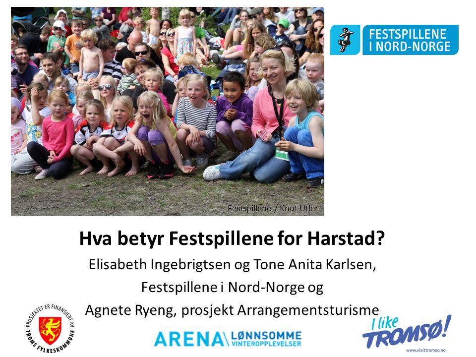 Hva betyr Festspillene for Harstad? Elisabeth Ingebrigtsen og Tone Anita Karlsen, Festspillene i Nord-Norge og Agnete Ryeng, prosjekt Arrangementsturi