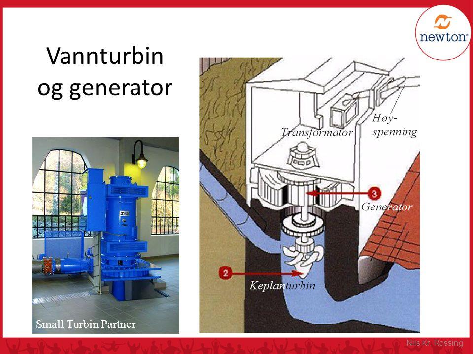 Vannturbin og generator Small Turbin Partner Nils Kr. Rossing