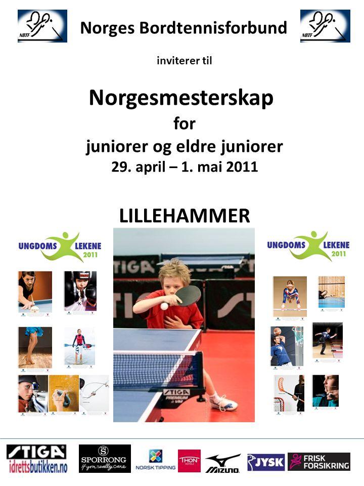 Norges Bordtennisforbund inviterer til Norgesmesterskap for juniorer og eldre juniorer 29.