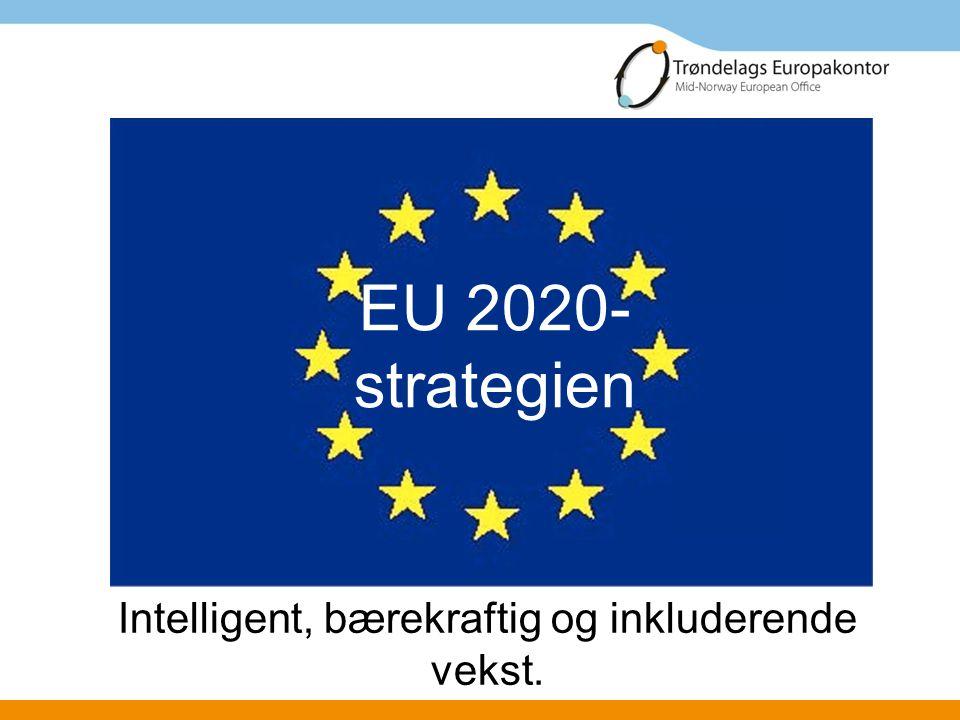 EU 2020- strategien Intelligent, bærekraftig og inkluderende vekst.