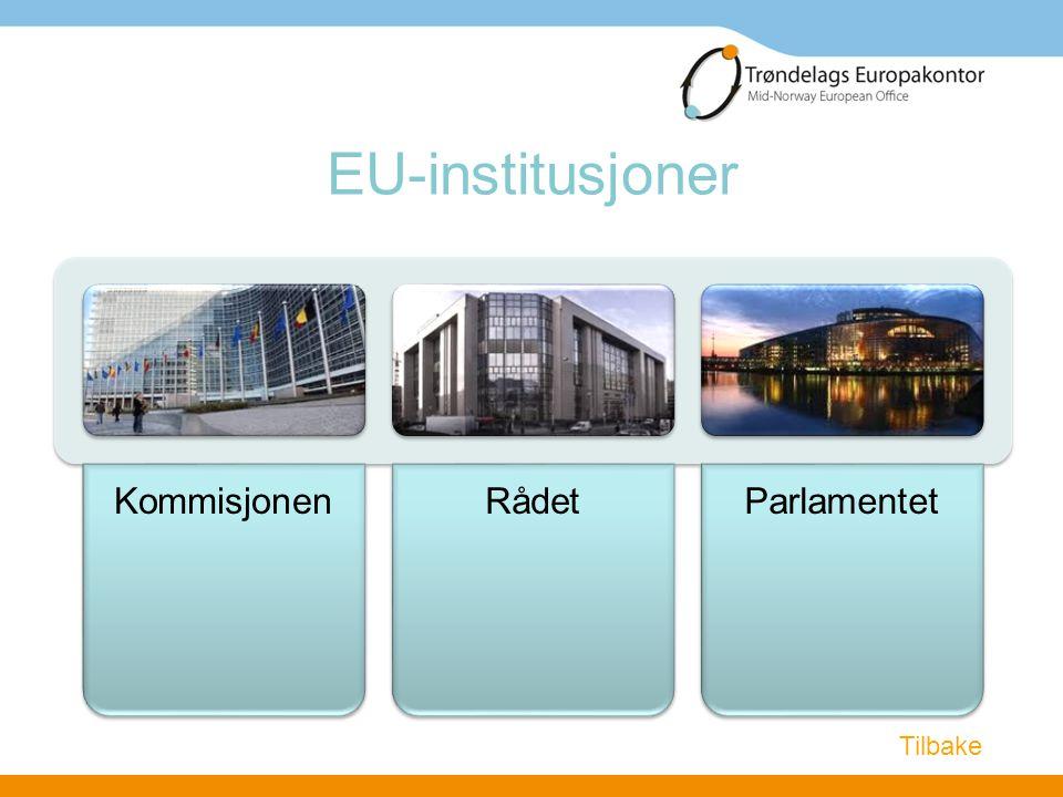 EU-institusjoner KommisjonenRådetParlamentet Tilbake